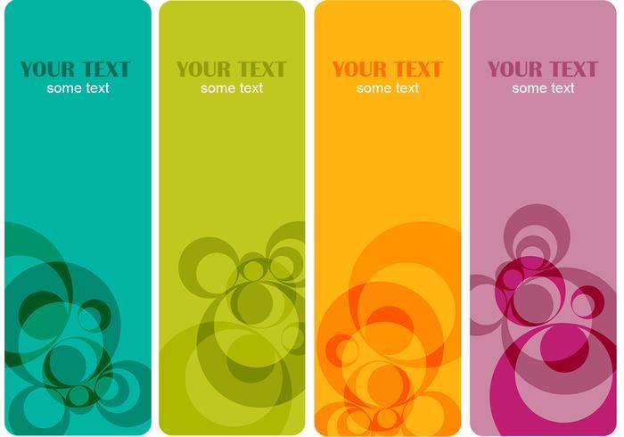 Kleurrijke Banner Achtergrond Pack