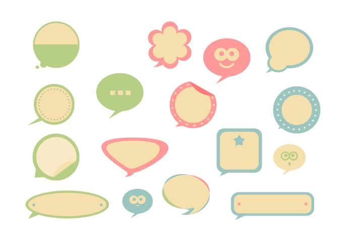 Retro Speech Bubble Brushes Pack