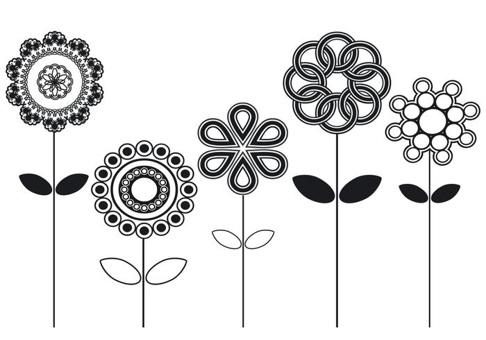 Abstrakt Flower Brushes Pack