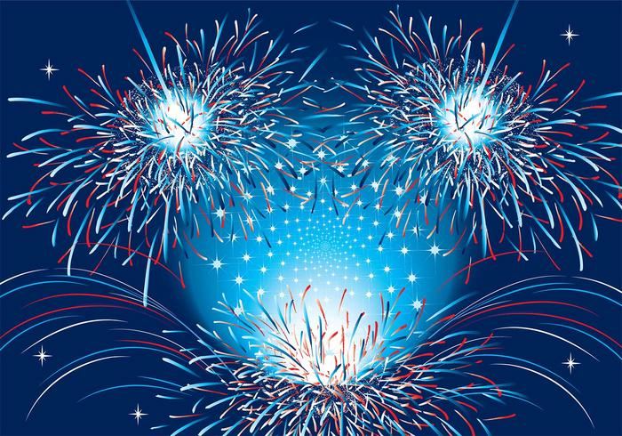 Patriotic Fireworks Background Two