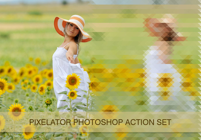 Pixelator - pixel photoshop actions