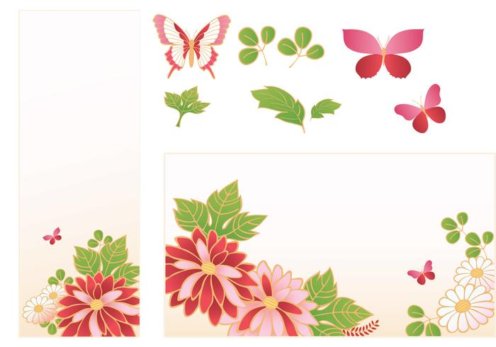 Pink Flower Banner and Butterfly Brush Pack