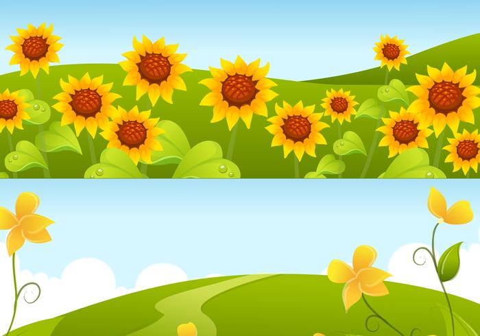 Yellow Sunflower Backgrounds Pack
