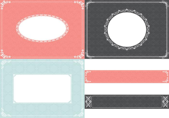 Vintage Ornament Background and Label Pack