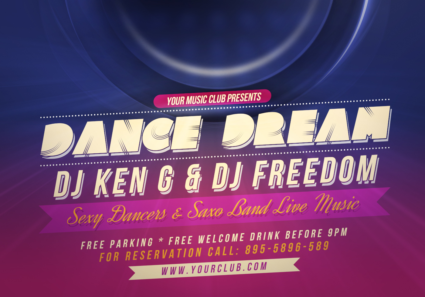 Dance Party Flyer Psd Template Free Photoshop Brushes At Brusheezy