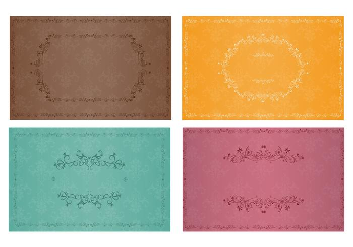 Vintage Wallpaper And Ornament Brush Pack Free Photoshop