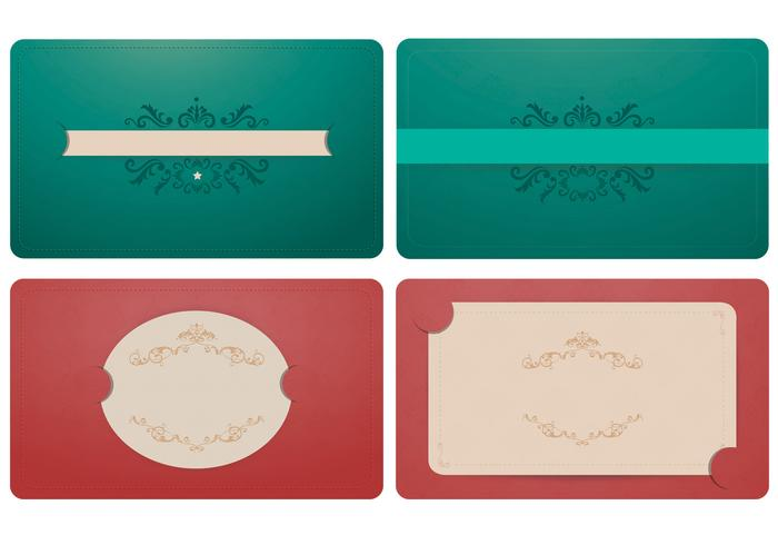 Elegant Emerald and Coral Label and Brush Ornament Pack