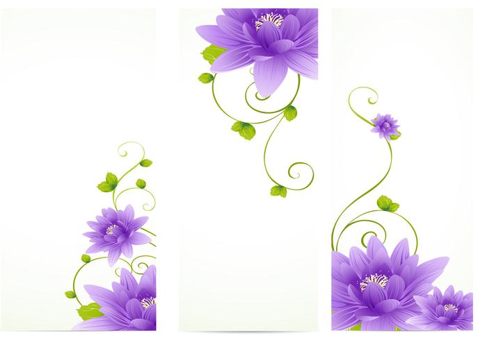 Purple Flower Banner Pack