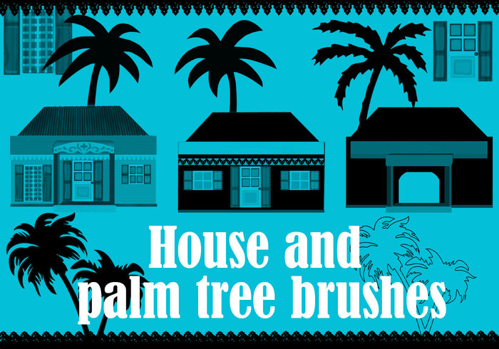 Tikaz la Renyon House and Palm Tree Brushes