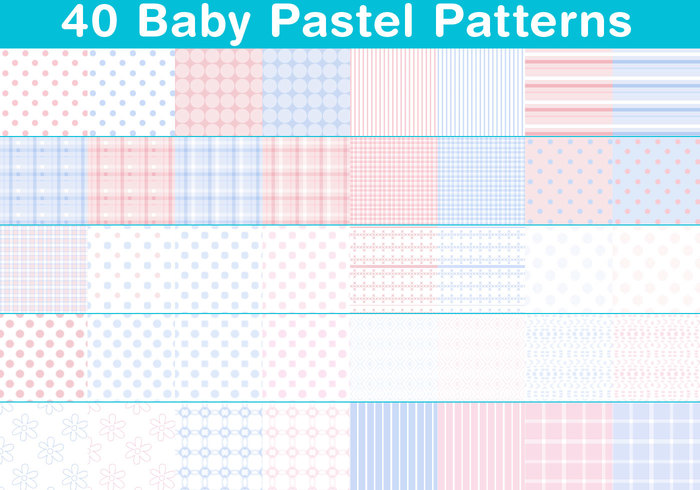 Baby-Pastellmuster