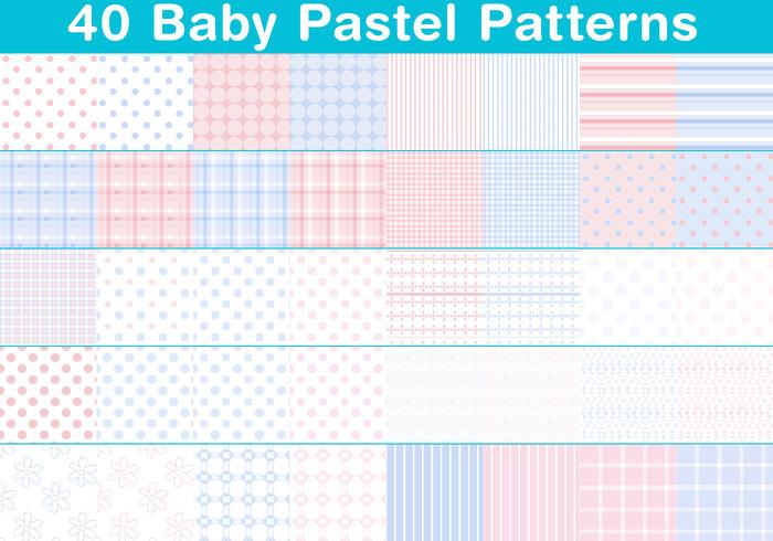 Motifs pastels bébé
