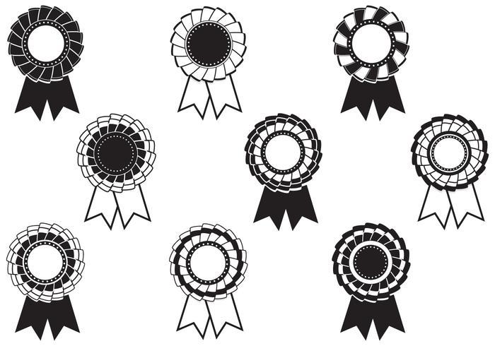 Paquete de cepillos de premios Rosette blanco y negro