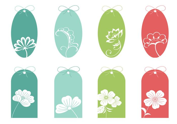 Colorful Floral Tag Brushes Pack