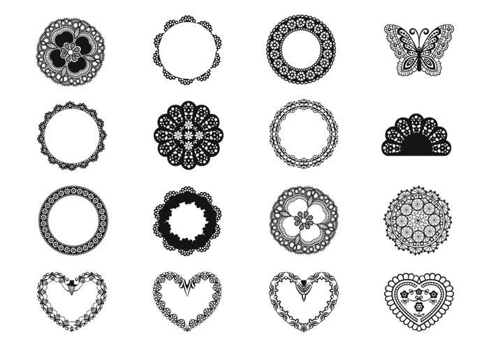 Lace and Doily Brush Elements