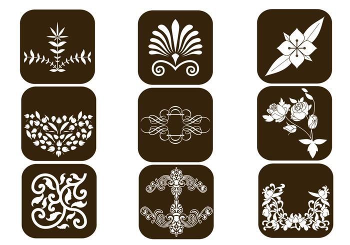 Floral Design Brush Elements Pack