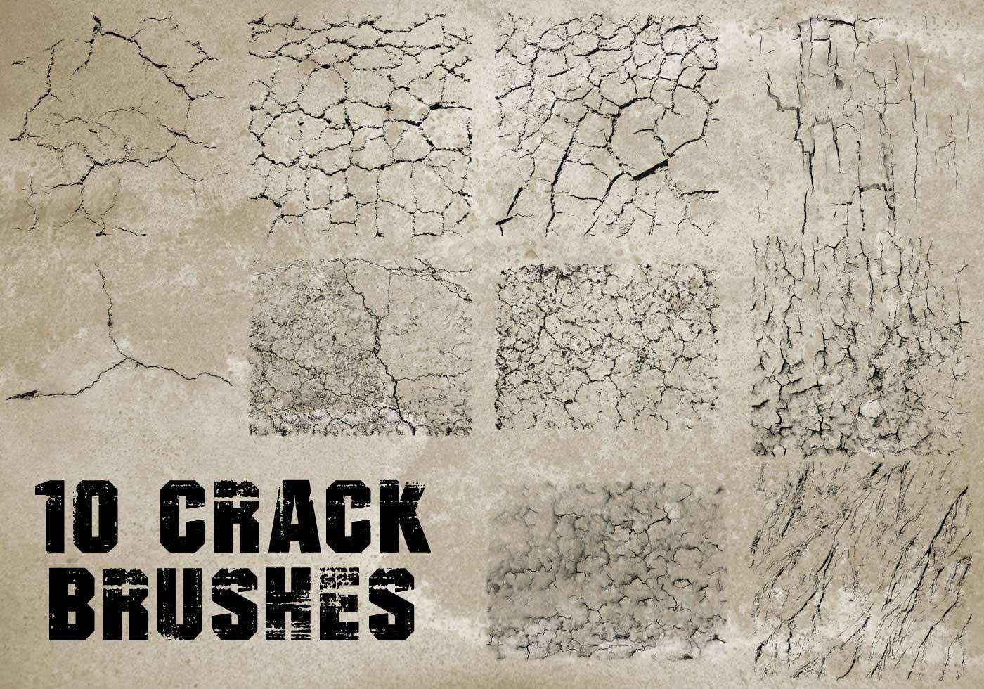 10 hi def cracks brushes