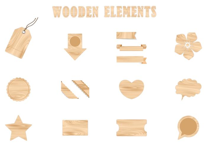 Wooden Brush Elements Pack