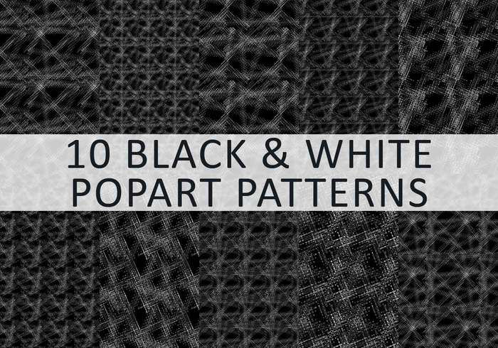 10 Jazzy Black & White Popart Patterns