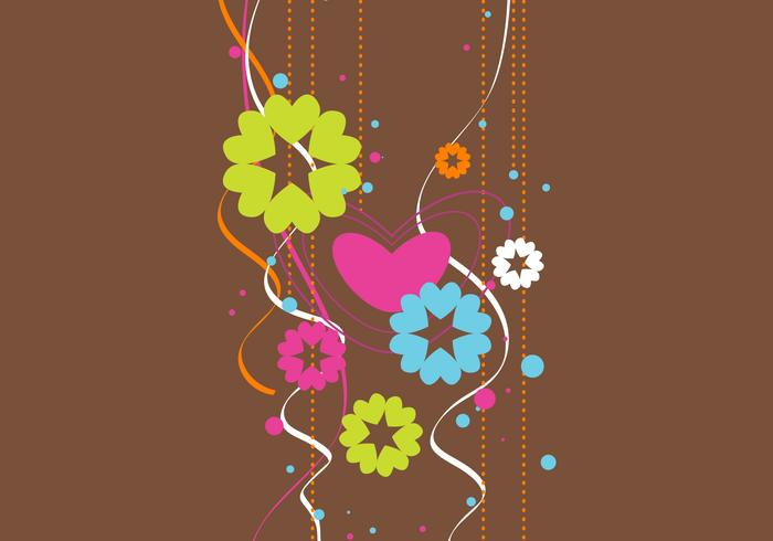 Funky Floral Heart Wallpaper