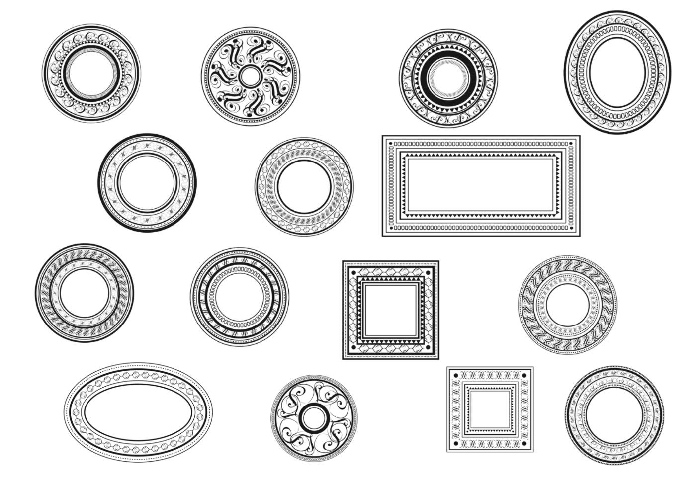 Dekorative Vintage Rahmen Pinsel Pack - Kostenlose Photoshop-Pinsel ...