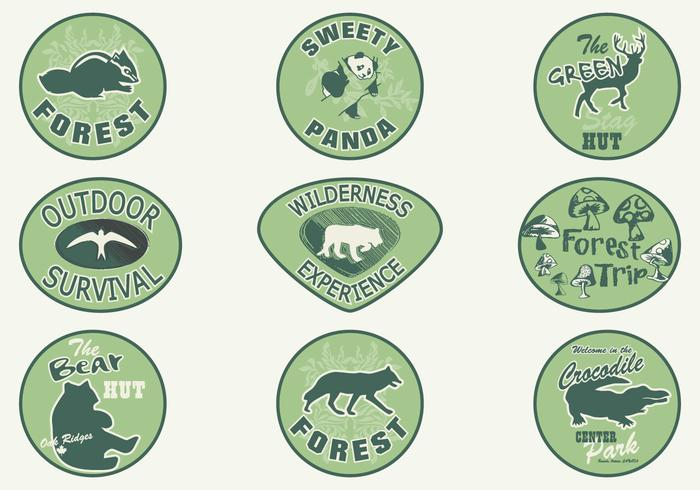 Forest Animal Badge Brush Pack