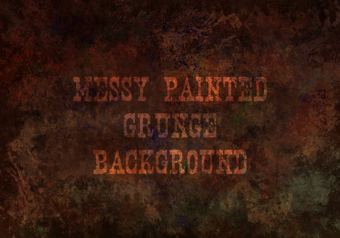 Messy Painted Grunge Texture