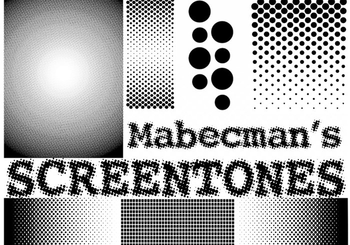 Mabecman's SCREENTONES Halftoonborstels