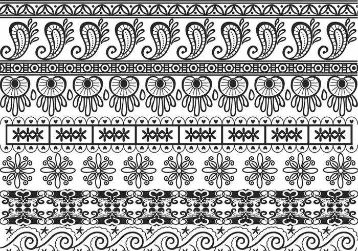 Pacote Ornamental Border Brushes Pack