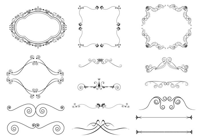 Flourish Ornament Brushes Pack