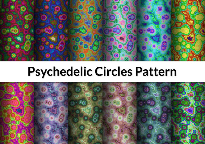 12 Psychedelic Circles Patterns