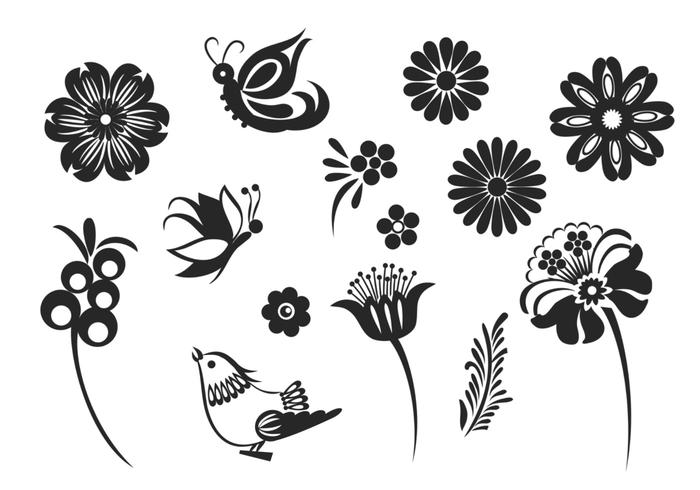 Stylized Butterfly and Flower Brush Pack