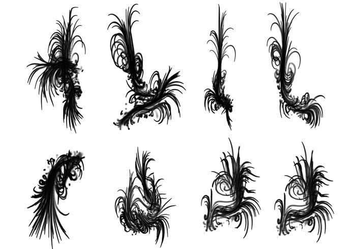 Tendrils Swirl Brushes