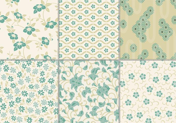 Dusty Teal Paquete Floral Antecedentes