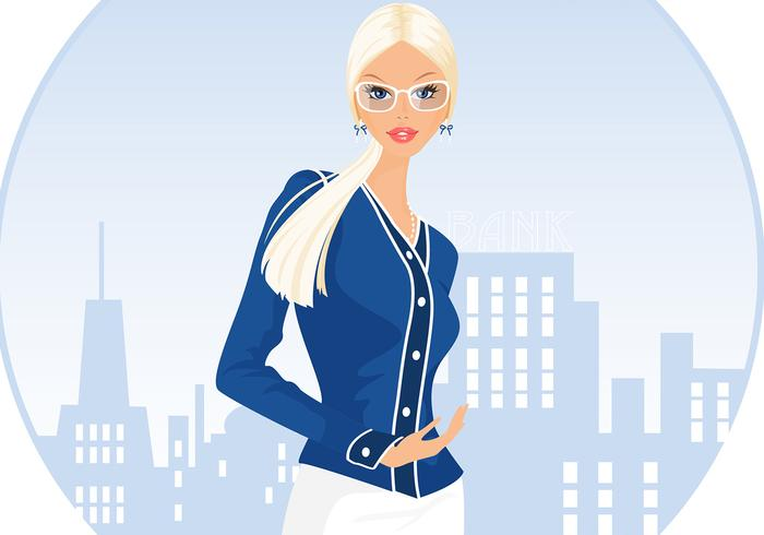 Blond Business Woman Hintergrund