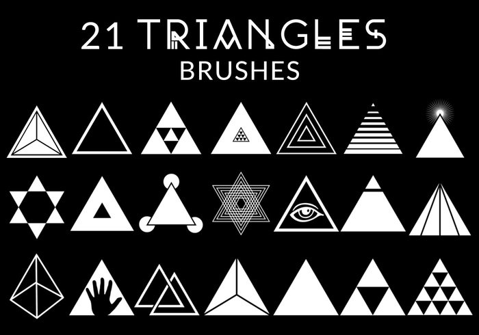 21 triangle brushes free photoshop brushes at brusheezy