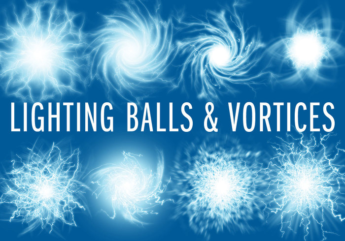 8 Lightning Ball Brushes & Vortices