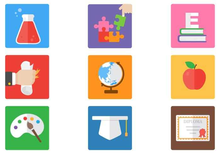 Bright Education Icons PSD Pack