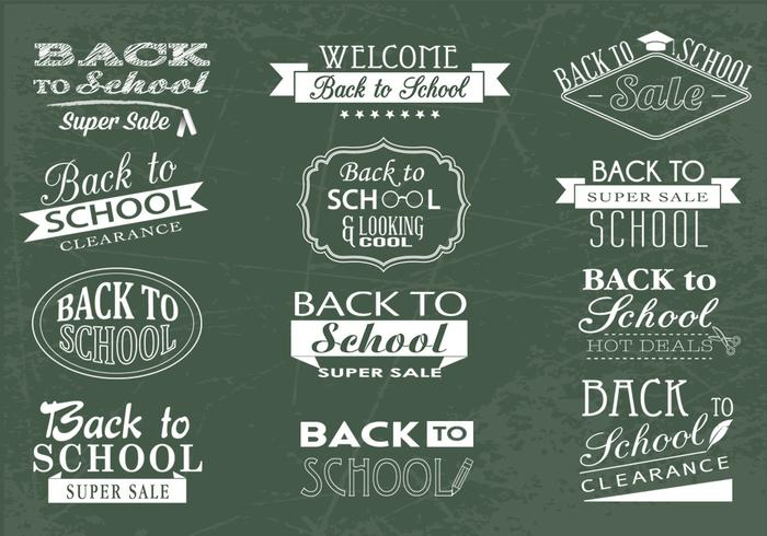 Back to School Chalkboard och Sale brushes och PSDs