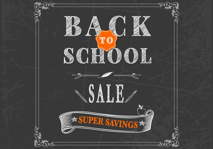 Back to School Chalkboard PSD