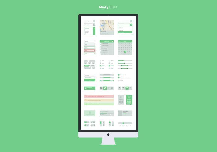 Minty UI PSD Kit
