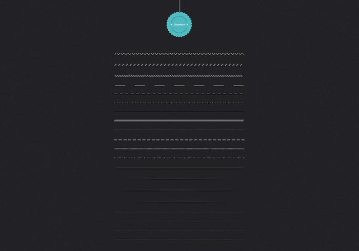 Dark Web Dividers PSD Pack