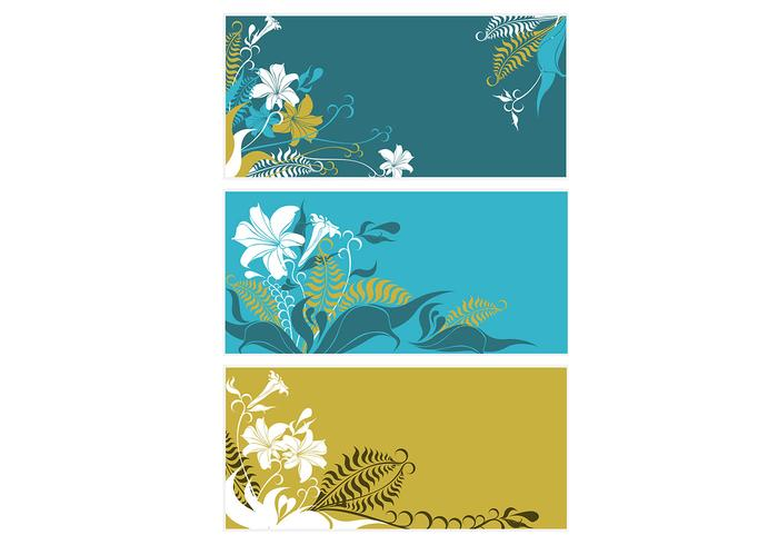 Fern and Lily Background Pack