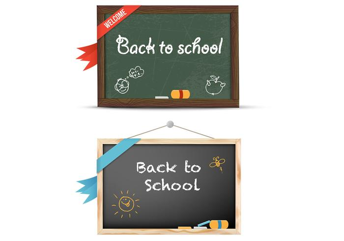 Terug naar school Chalkboard PSD Pack