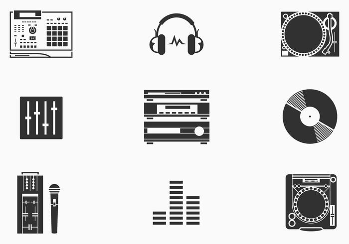 DJ Brush Icons Pack