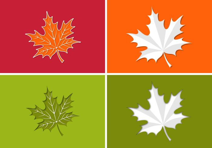 Paper Maple Leaf PSD Pack