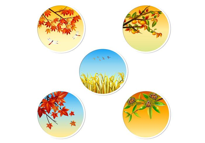 Autumn Badge PSD Pack