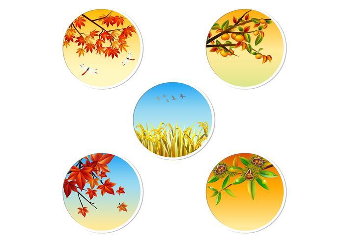 Paquet PSD Badge d'automne