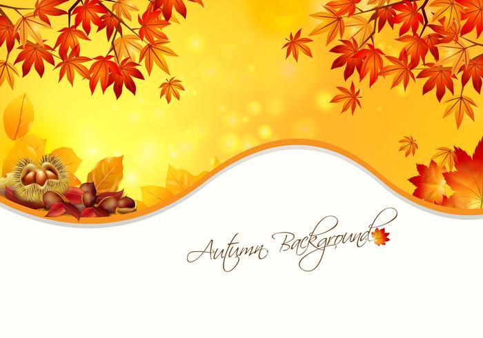 Warme Herfst Achtergrond PSD