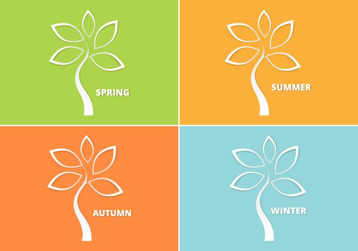 Cutout Seasonal Tree PSD Pack