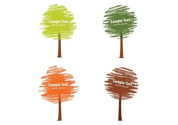 Kreide Drawn Fall Tree PSD Pack